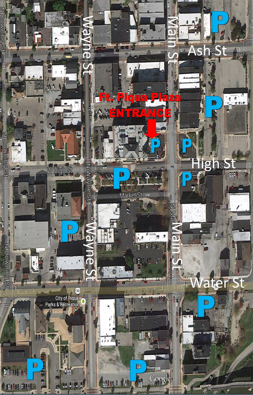 Plaza Parking Map